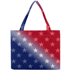 America Patriotic Red White Blue Mini Tote Bag