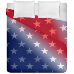 America Patriotic Red White Blue Duvet Cover Double Side (california King Size)