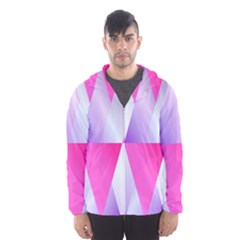 Gradient Geometric Shiny Light Hooded Wind Breaker (men)