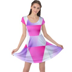 Gradient Geometric Shiny Light Cap Sleeve Dress