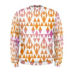 Geometric Abstract Orange Purple Men s Sweatshirt