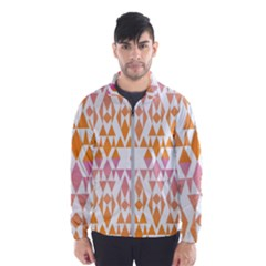 Geometric Abstract Orange Purple Wind Breaker (men)