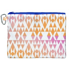 Geometric Abstract Orange Purple Canvas Cosmetic Bag (xxl)