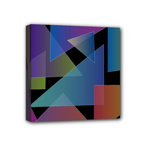Triangle Gradient Abstract Geometry Mini Canvas 4  X 4