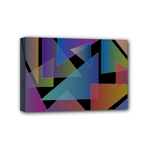 Triangle Gradient Abstract Geometry Mini Canvas 6  X 4