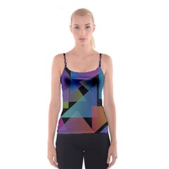 Triangle Gradient Abstract Geometry Spaghetti Strap Top