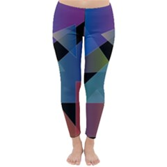 Triangle Gradient Abstract Geometry Classic Winter Leggings
