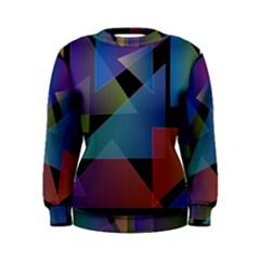 Triangle Gradient Abstract Geometry Women s Sweatshirt