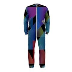 Triangle Gradient Abstract Geometry Onepiece Jumpsuit (kids)