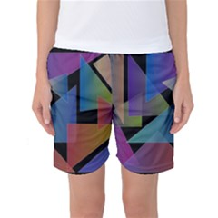 Triangle Gradient Abstract Geometry Women s Basketball Shorts
