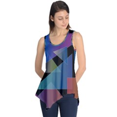 Triangle Gradient Abstract Geometry Sleeveless Tunic