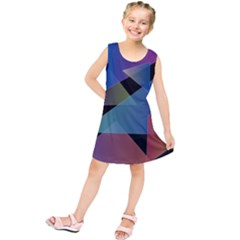 Triangle Gradient Abstract Geometry Kids  Tunic Dress
