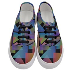 Triangle Gradient Abstract Geometry Women s Classic Low Top Sneakers