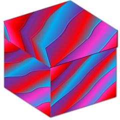Diagonal Gradient Vivid Color 3d Storage Stool 12