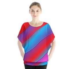 Diagonal Gradient Vivid Color 3d Blouse