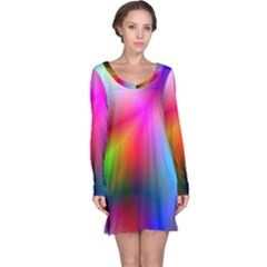 Course Gradient Background Color Long Sleeve Nightdress