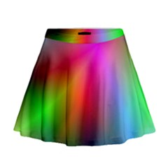 Course Gradient Background Color Mini Flare Skirt