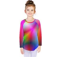 Course Gradient Background Color Kids  Long Sleeve Tee