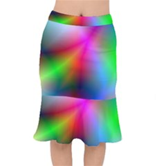 Course Gradient Background Color Mermaid Skirt