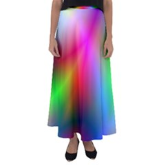 Course Gradient Background Color Flared Maxi Skirt