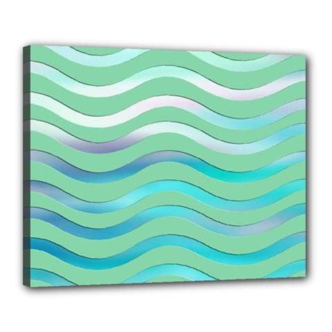 Abstract Digital Waves Background Canvas 20  X 16
