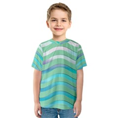Abstract Digital Waves Background Kids  Sport Mesh Tee