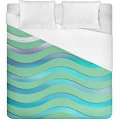 Abstract Digital Waves Background Duvet Cover (king Size)