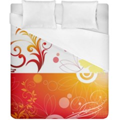 Spring Butterfly Flower Plant Duvet Cover (california King Size)