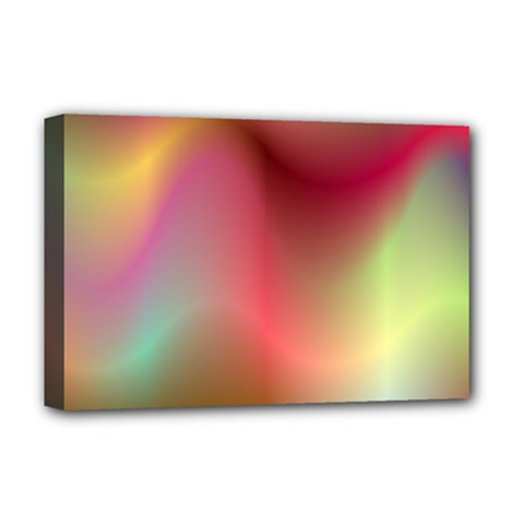 Colorful Colors Wave Gradient Deluxe Canvas 18  X 12