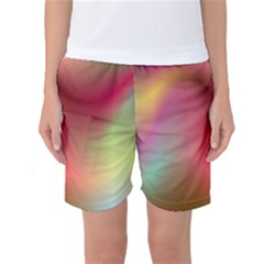Colorful Colors Wave Gradient Women s Basketball Shorts