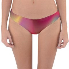 Colorful Colors Wave Gradient Reversible Hipster Bikini Bottoms