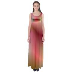 Colorful Colors Wave Gradient Empire Waist Maxi Dress