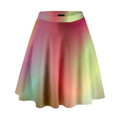 Colorful Colors Wave Gradient High Waist Skirt