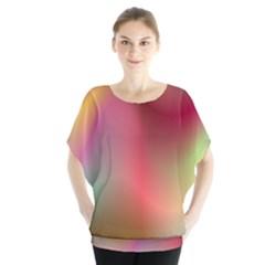 Colorful Colors Wave Gradient Blouse