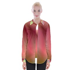 Colorful Colors Wave Gradient Womens Long Sleeve Shirt
