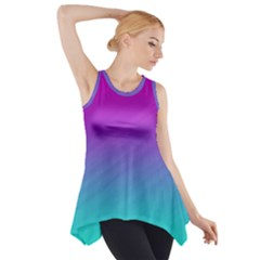 Background Pink Blue Gradient Side Drop Tank Tunic