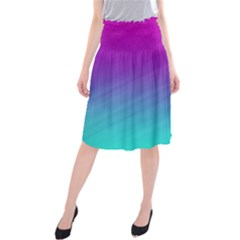 Background Pink Blue Gradient Midi Beach Skirt