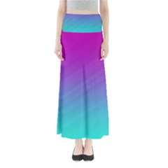 Background Pink Blue Gradient Full Length Maxi Skirt