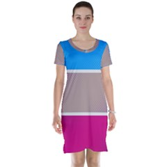 Pattern Template Banner Background Short Sleeve Nightdress