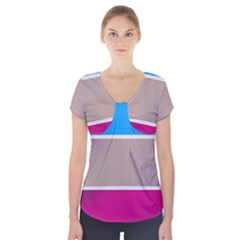 Pattern Template Banner Background Short Sleeve Front Detail Top