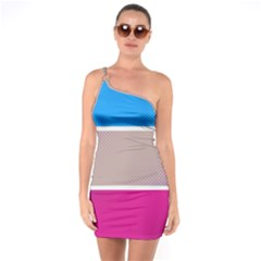 Pattern Template Banner Background One Soulder Bodycon Dress