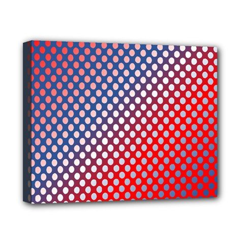 Dots Red White Blue Gradient Canvas 10  X 8