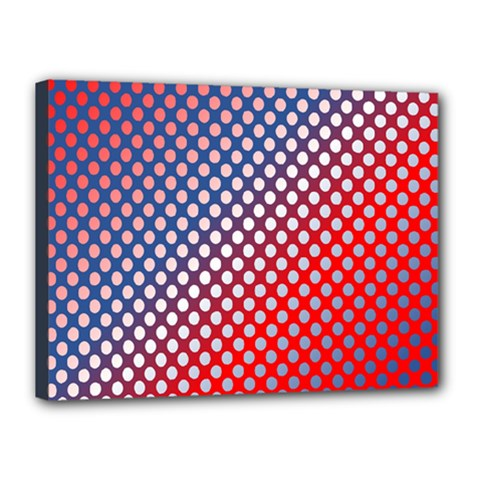 Dots Red White Blue Gradient Canvas 16  X 12