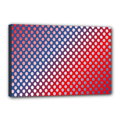 Dots Red White Blue Gradient Canvas 18  X 12