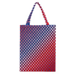Dots Red White Blue Gradient Classic Tote Bag