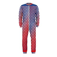 Dots Red White Blue Gradient Onepiece Jumpsuit (kids)