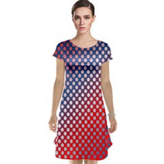 Dots Red White Blue Gradient Cap Sleeve Nightdress