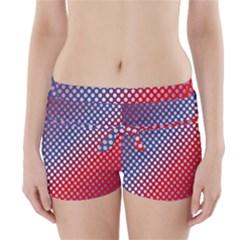 Dots Red White Blue Gradient Boyleg Bikini Wrap Bottoms