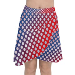 Dots Red White Blue Gradient Chiffon Wrap
