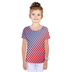 Dots Red White Blue Gradient Kids  One Piece Tee